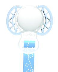 NUVITA - Držák na dudlík s klipem a kroužkem - Blue