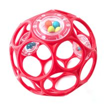 OBALL - Hračka OBALL RATTLE 10cm red 0m+
