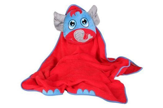 OKIEDOG - Detská cestovná deka s vankúšikom - Slon
