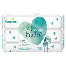 PAMPERS - Obrúsky vlhčené Aqua Pure 3x48 ks