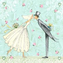 PAPER DESIGN - Papierové servítky Moments Bride and groom