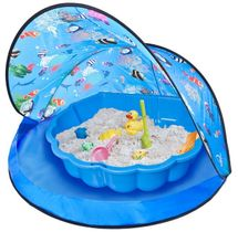PARADISO - Paradiso Modrý stan s pieskoviskom - bazénom mušľa T02828