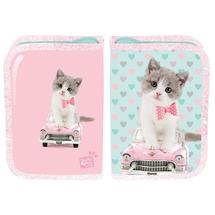 PASO - Školský peračník Studio Pets Mačka - prázdný ružový
