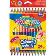 PATIO - Colorino pastelky Jumbo dvojfarebné TRIO 24 farieb