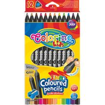 PATIO - Colorino pastelky Jumbo Trio Black 12 farieb
