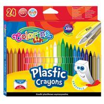 PATIO - Colorino voskovky gumovateľné 24 farieb