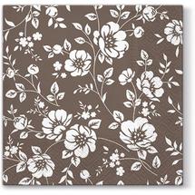 PAW - Papierové servítky Ornament Bushes - hnedé