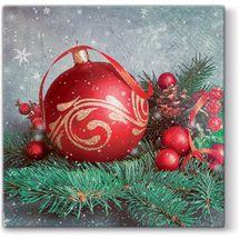 PAW - Papierové vianočné servítky Bauble on Twig