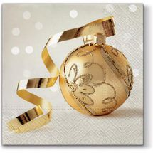 PAW - Papierové vianočné servítky Golden Bauble