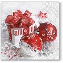 PAW - Papierové vianočné servítky Snowy Baubles