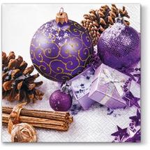PAW - Papierové vianočné servítky violet 640000