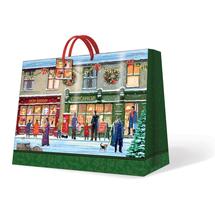 PAW - Vianočná taška Winter Shopwindow veľká podlhovastá 26,5 x 33 x 13,5 cm