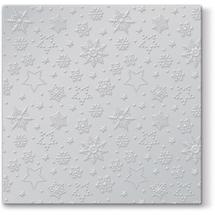 PAW - Vianočné servítky Inspiration - Winter flakes - strieborné