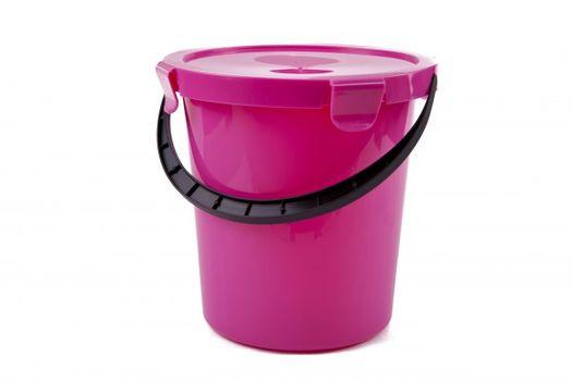 PLAST TEAM - Plastové vedro s vekom 5l - ružové