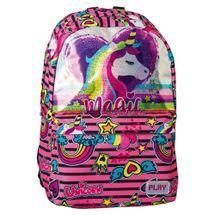 PLAY BAG - Školský batoh POP School, Pattern Rainbow Unicorn