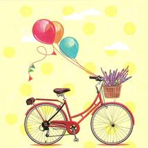 POL-MAK - Papierové servítky Bicycle with Ballons
