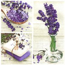 POL-MAK - Papierové servítky Lavender Spa Squares