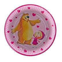 POL-MAK - Papierové taniere Máša a medveď - 8 kusov - veľké