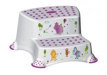 PRIMA BABY - Dvojstupienok k umývadlu a WC Hippo, biely