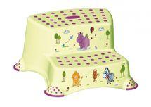 PRIMA BABY - Dvojstupienok k umývadlu a WC Hippo, zelená