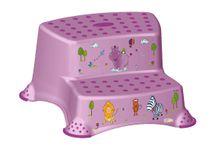 PRIMA BABY - Dvojstupienok k WC / umývadlu Hippo - svetlo fialová