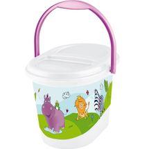 PRIMA BABY - Kôš na plienky Hippo - Biely