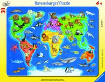 RAVENSBURGER - Mapa Sveta So Zvieratami 30-48D