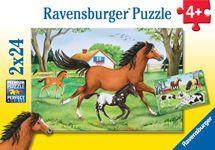 RAVENSBURGER - Svet koní; 2x24 dielikov