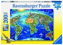RAVENSBURGER - Veľká mapa sveta; 200 dielikov