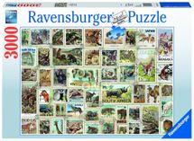 RAVENSBURGER - Zvieracie známky; 3000 dielikov
