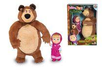 SIMBA - Máša a Medveď set Míša 25 cm plyšový a bábika Máša 12 cm