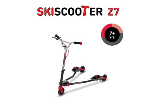 SMART TRIKE - kolobežka 222 Ski Scooter Z7 červená