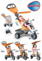 SMART TRIKE - Recliner kočík - oranžový