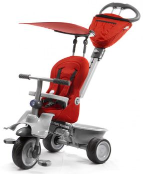 SMART TRIKE - Recliner kočík - Red