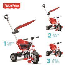 SMART TRIKE - trojkolka Fisher Price 325 Charm Plus 3v1 Červená