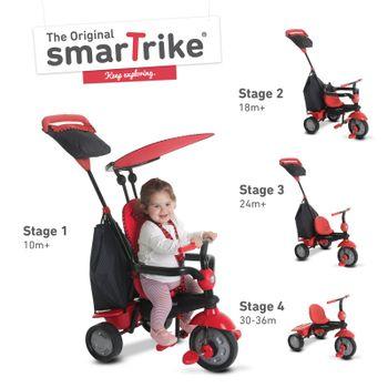 SMART TRIKE - Trojkolka Glow 4 v 1, červená