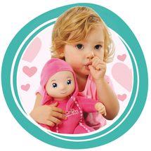 SMOBY - 210103 bábika Minikiss so zvukom ružová alebo modrá