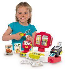 SMOBY - 350107 Elektronická pokladňa s čítačkou kódov, kariet a s váhou červená