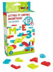 SMOBY - 430100 Magnetické veľké písmená a číslice 72 kusov