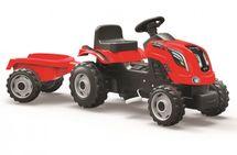SMOBY - Šliapací traktor Farmer XXL červený s vozíkom