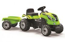SMOBY - Šliapací traktor Farmer XXL zelený s vozíkom
