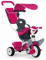 SMOBY - Trojkolka Baby Balade 2 ružová, strieška a taška