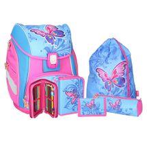 SPIRIT - Školská taška - 5-dielny set, PRO LIGHT Butterfly, LED