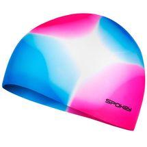 SPOKEY - ABSTRACT-Plavecká čiapka silikónová ružovo-modrá