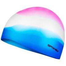 SPOKEY - ABSTRACT-Plavecká čiapka silikónová ružovo-bielo-modrá