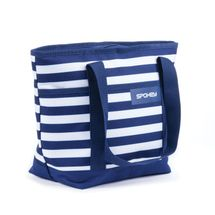 SPOKEY - ACAPULCO Plážová termo taška, pruhy - námornická modrá