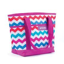 SPOKEY - ACAPULCO Plážová termo taška malá, fialová zigzag, 36 x 15 x 27 cm