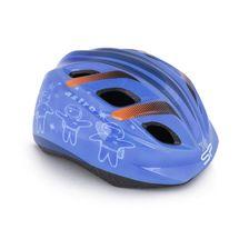 SPOKEY - ASTRO Detská cyklistická prilba, 48-52 cm, modrá