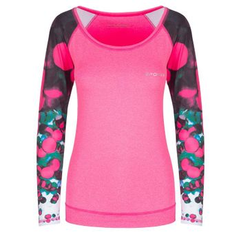 SPOKEY - BALLS, fitness triko. dlhý rukáv, ružové, vel. M