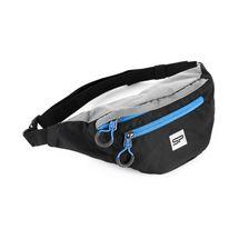 SPOKEY - BOREAS menšia športová ľadvinka čierno-šedá, modrý zips, 3l